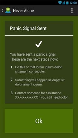 Sending Panic Signal